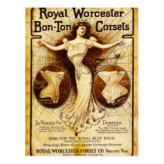 Royal Worcester corsets Postcard