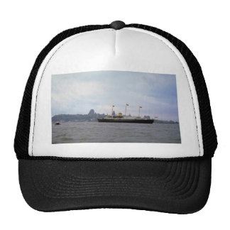 """Royal yacht """"Britannia"""" on St. Lawrence River, Que Trucker Hat"""
