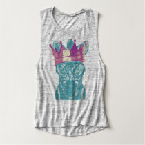 Royal Zebra muscle tank