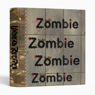 Royal Zombie 3 Ring Binder