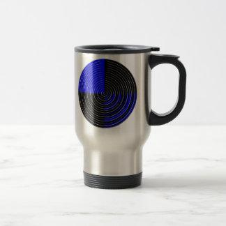 RoyalBlue n Silver Streak 15 Oz Stainless Steel Travel Mug