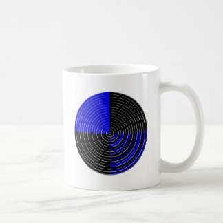 RoyalBlue n Silver Streak Classic White Coffee Mug