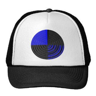 RoyalBlue n Silver Streak Trucker Hat