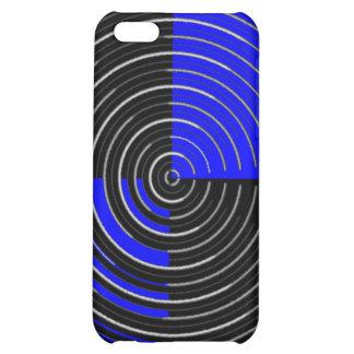 RoyalBlue n Silver Streak Cover For iPhone 5C
