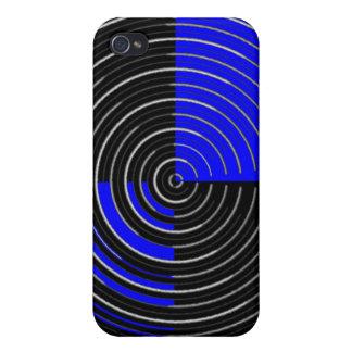 RoyalBlue n Silver Streak Cases For iPhone 4