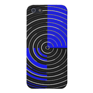 RoyalBlue n Silver Streak iPhone SE/5/5s Case