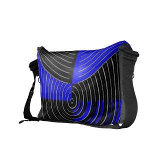 RoyalBlue n Silver Streak Messenger Bag