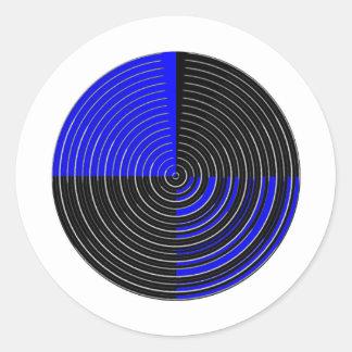 RoyalBlue n Silver Streak Stickers