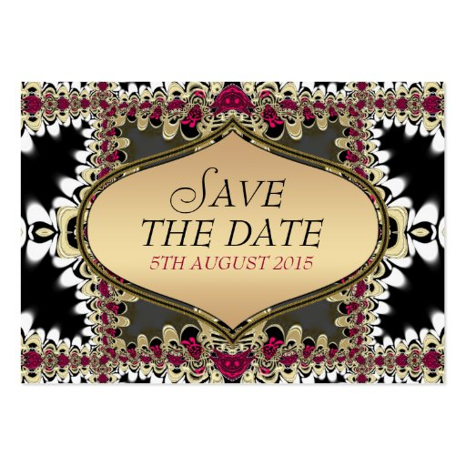 Royale Bohemian Save the Date Announcement Business Card Template