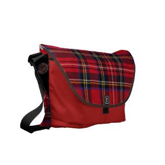 royale de la tela escocesa bolsas de mensajería