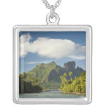 Royale honeymoon over-the-water suite at Bora Square Pendant Necklace