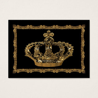 Royalee Boleyn Crown Elegant Business Card at Zazzle