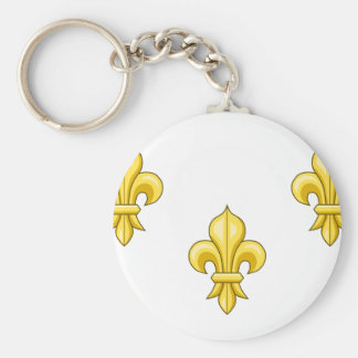 Royalist France, France Basic Round Button Keychain