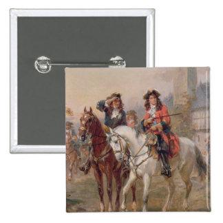 Royalists (aceite en el panel) (pares de 124465) pin cuadrado
