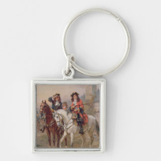 Royalists (oil on panel) (pair of 124465) Silver-Colored square keychain