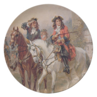 Royalists (oil on panel) (pair of 124465) plates