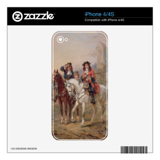 Royalists (oil on panel) (pair of 124465) iPhone 4 decal