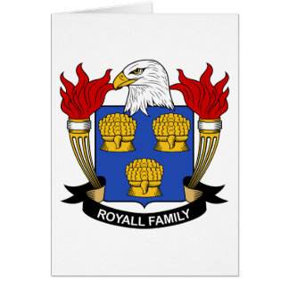 Royall Family Crest Greeting Cards