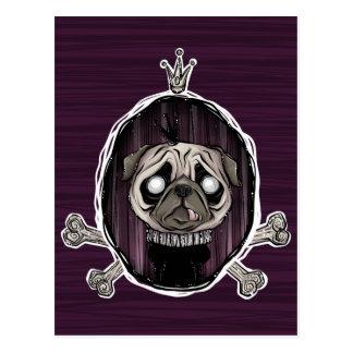 _royally pugged post card
