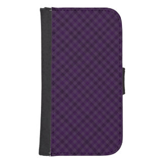 Royally Purple in Plaid Samsung S4 Wallet Case