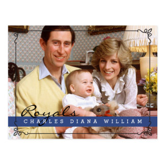 Royals Charles Diana y Guillermo Postales