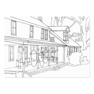 Royalton Bed and Breakfast Coloring Business Cards