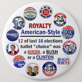 Royalty, American-Style Pinback Button