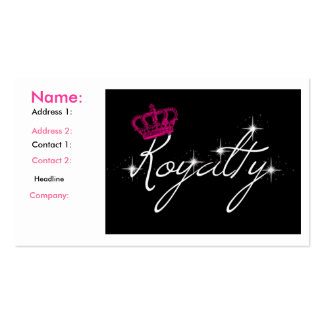 royalty business cards