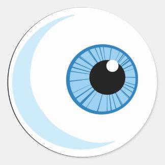 Royalty-Free-RF-Copyright-Safe-Blue-Eye-Ball EYEBA Classic Round Sticker