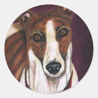 Royalty - Greyhound Art Round Sticker