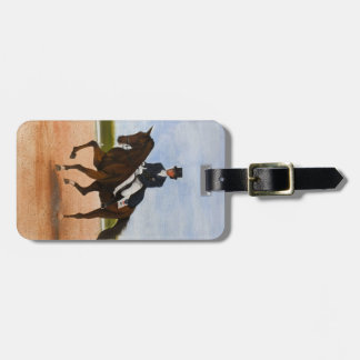 Royalty in dressage horse princess luggage tag