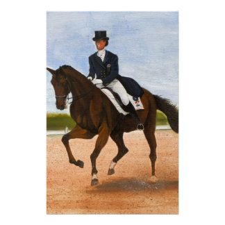Royalty in dressage horse princess stationery