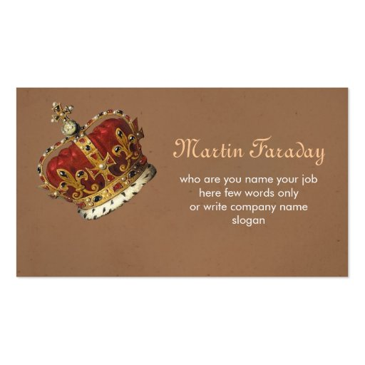 Royalty king crown business card zazzle for Crown business cards