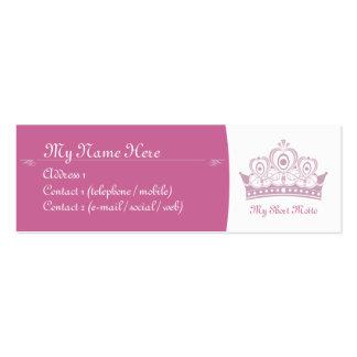 Royalty / Princess Skinny Calling Cards Business Card Templates