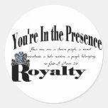 Royalty Round Sticker