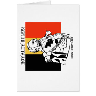 Royalty Rules King Leopold II Note Card,envelopes Card