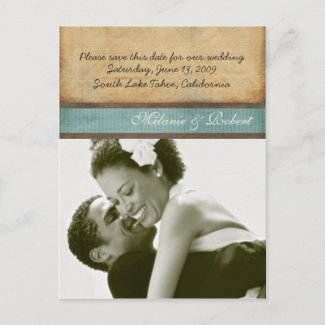 Royalty Save the Date postcard