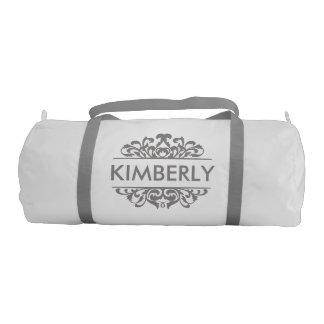 Royalty Swirly Flourish Monogram Duffle Bag