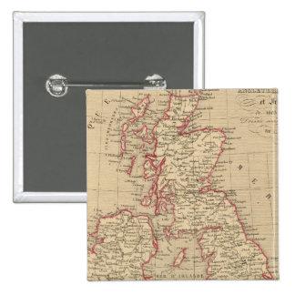 Royaume Uni, Angleterre, Ecosse 2 Inch Square Button