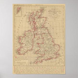 Royaume Uni, Angleterre, Ecosse Poster