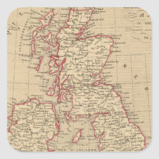 Royaume Uni, Angleterre, Ecosse Square Sticker