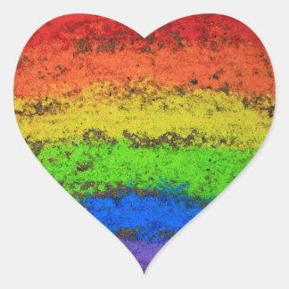 ROYGBIV Grunge Rainbow  Sidewalk Chalk Sticker