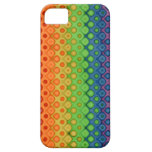 ROYGBIV Rainbow Bubbles Distorted Colors iPhone 5 Covers