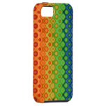 ROYGBIV Rainbow Bubbles Distorted Colors iPhone 5 Cases