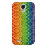 ROYGBIV Rainbow Bubbles Distorted Colors Samsung Galaxy S4 Covers