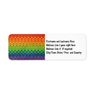 ROYGBIV Rainbow Bubbles Distorted Colors Label