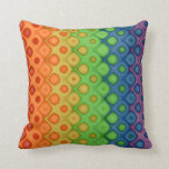 ROYGBIV Rainbow Bubbles Distorted Colors Pillows