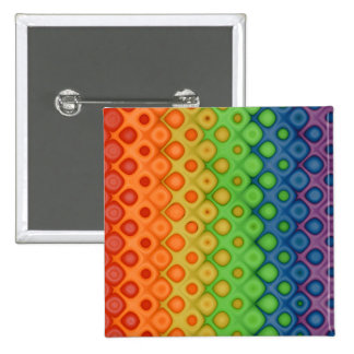 ROYGBIV Rainbow Bubbles Distorted Colors Pinback Button