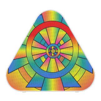 Roygbiv Rainbow Cross Abstract Bluetooth Speaker