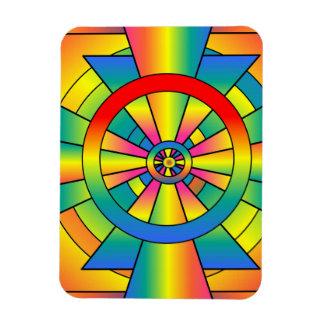 Roygbiv Rainbow Cross Abstract Flexible Magnets
